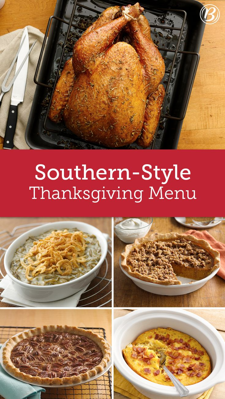 From sweet potato pie to fan-favorite corn pudding to herbed turkey with cornbread stuffing, all of your favorite Southern-inspired Thanksgiving recipes are right here.