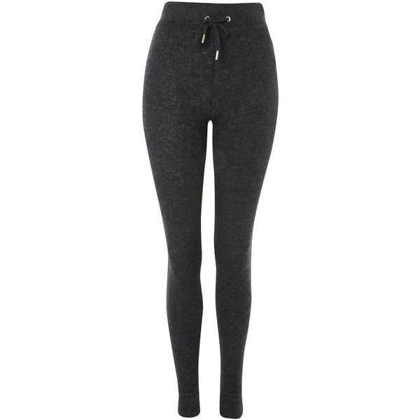 Topshop Petite Brushed Skinny Joggers ($31) ❤ liked on Polyvore featuring activewear, activewear pants, charcoal, petite activewear pants, petite activewear and petite sportswear