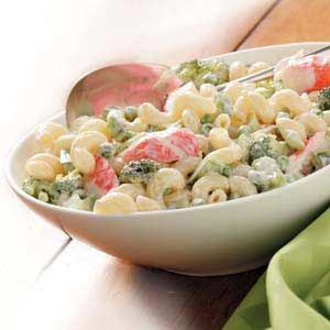 Flavorful Crab Pasta Salad: This is delicious, I used regular mayo and add grated carrots, and sliced celery.