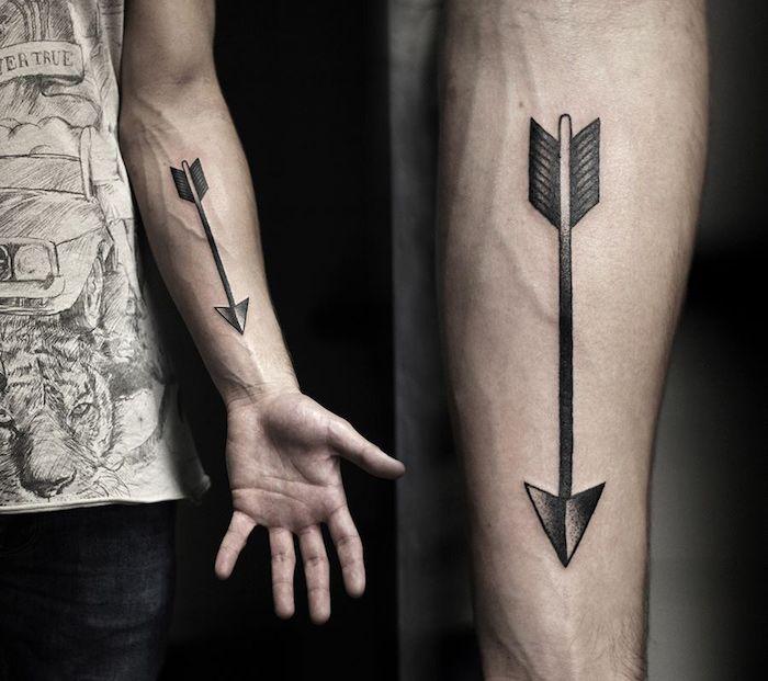 Tatouage sur l'avant bras – tel une carte de visite