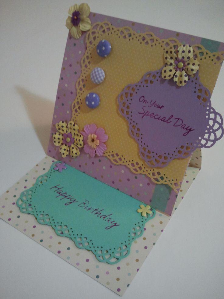 """Card di Pensieri Danzanti """"Una card primaverile per un compleanno speciale"""""""