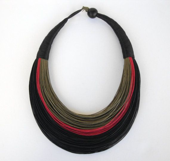 Dichiarazione della fibra collana gioielli di superlittlecute