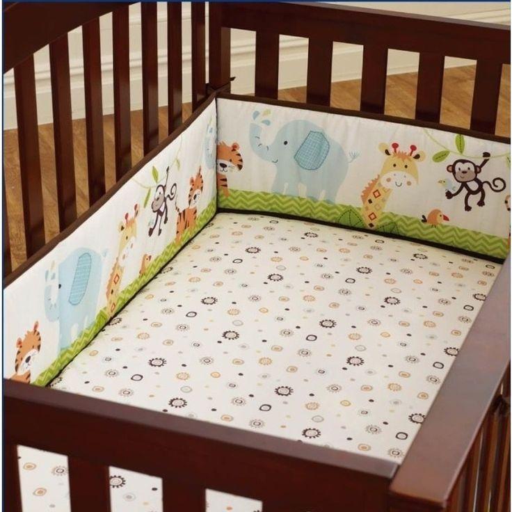 4 Piece Baby Cot Bumper Set Protectors Zoo Pattern | Buy New Arrivals