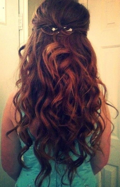 Long Curly Hairstyles 2014: Beautiful prom hairstyles for long hair