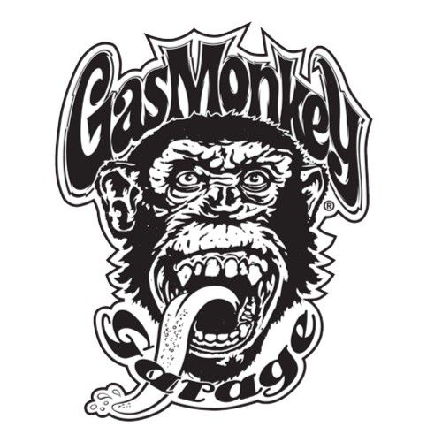 Black Gas Monkey Sticker by LIVE - Gas Monkey Garage