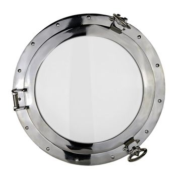 17 Nickel Finish over Solid Brass Porthole Window #affiliate