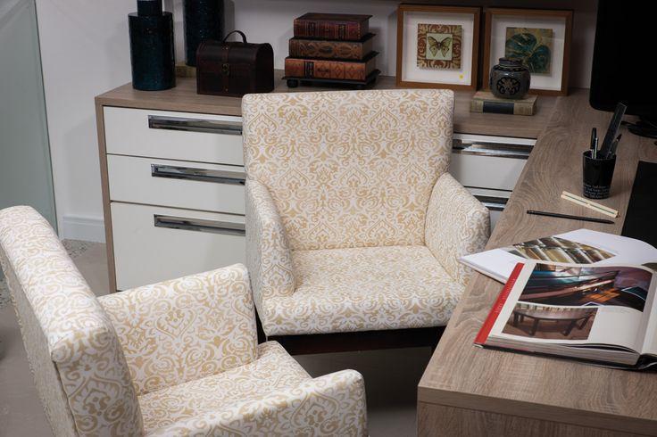 Elegante diseño Acqua Block Segments, para unos sillones de estudio u oficina en Nitza Bege ABS-
