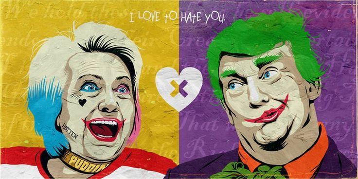 Quand Donald Trump et Hillary Clinton rencontrent la pop culture