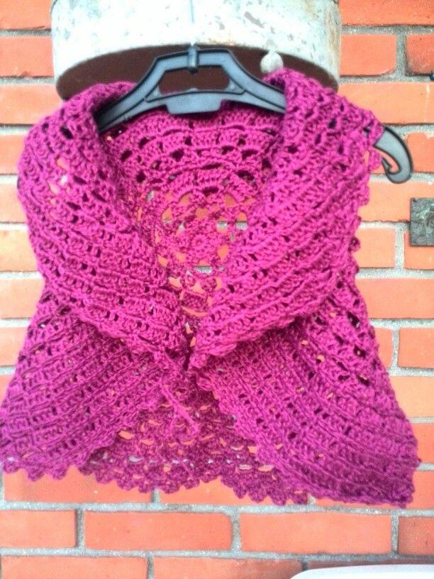 gilet a crochet con filato di lino per bimba