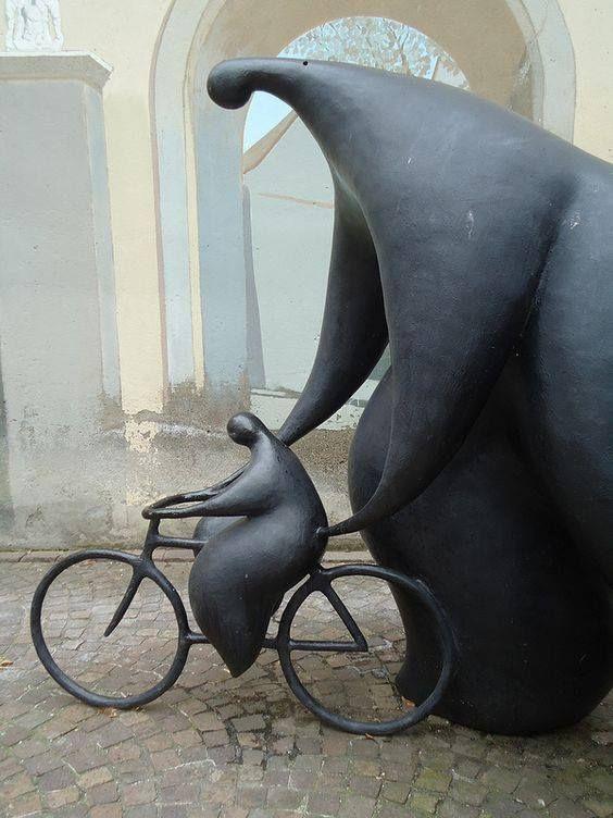Jean-Louis Toutain (1948 – 2008) Mulhouse bicycle sculpture Foto: Leighton Cooke
