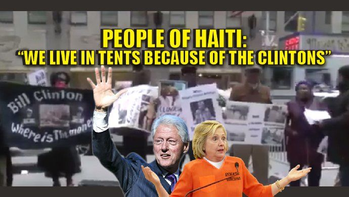 "The people of Haiti hate the Clintons. It's not just a few people either. It's the entire country and the government officials as well. The Clintons stole millions and millions of dollars from the devastated people of Haiti in yet another Clinton Foundation scandal. ""Earthquake Scam"" By the time the Clintons left Haiti those poor people were worse off. Watch the video: Death toll in Haiti is now up to 264 people‼️ REASON: 20K were living in tents b/c Hillary stole earthquake relief money…"
