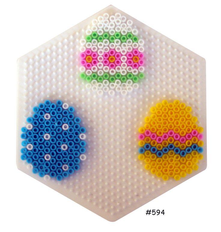 Easter eggs hama perler pattern - HAMA