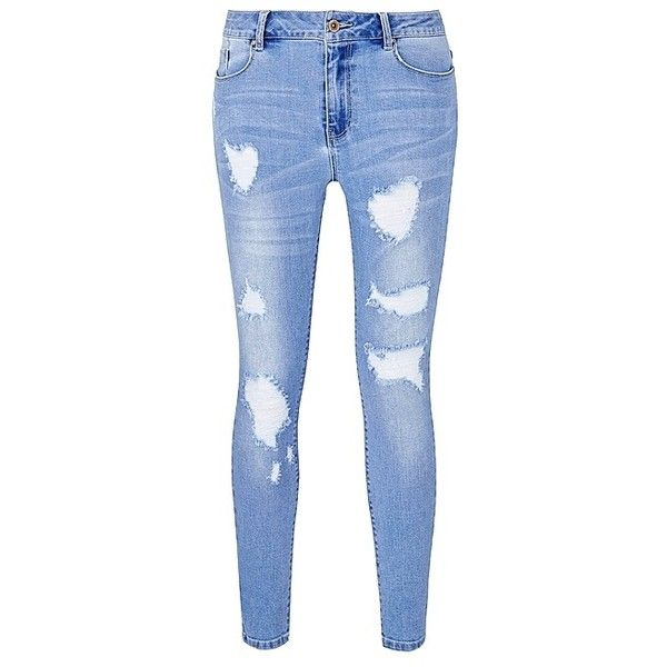 1000  ideas about Blue Ripped Jeans on Pinterest  Light blue
