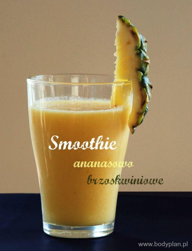 Smoothie ananasowo-brzoskwiniowe
