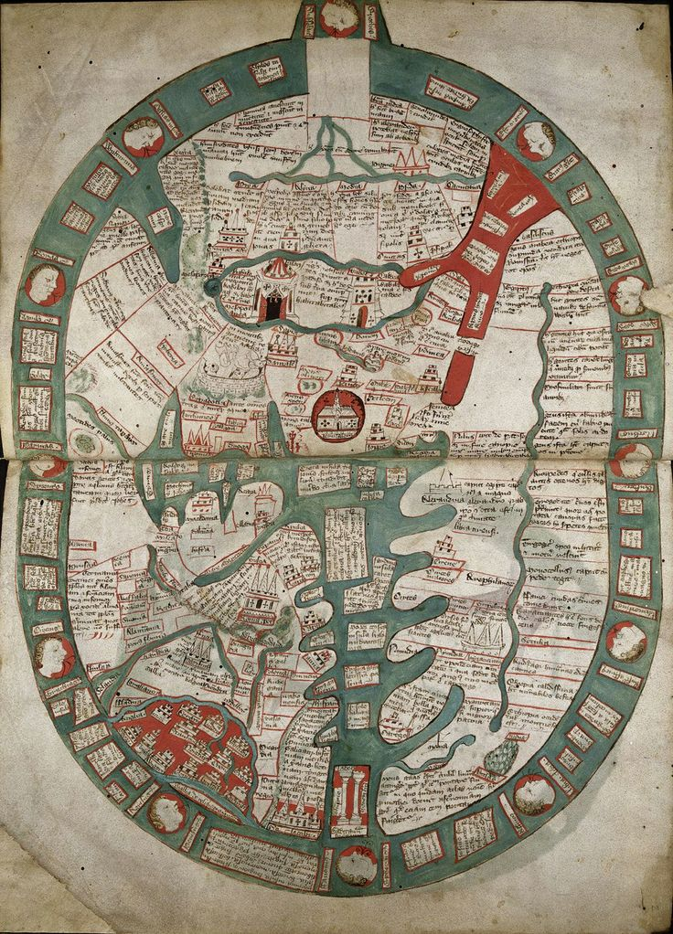 Medieval map, British Library
