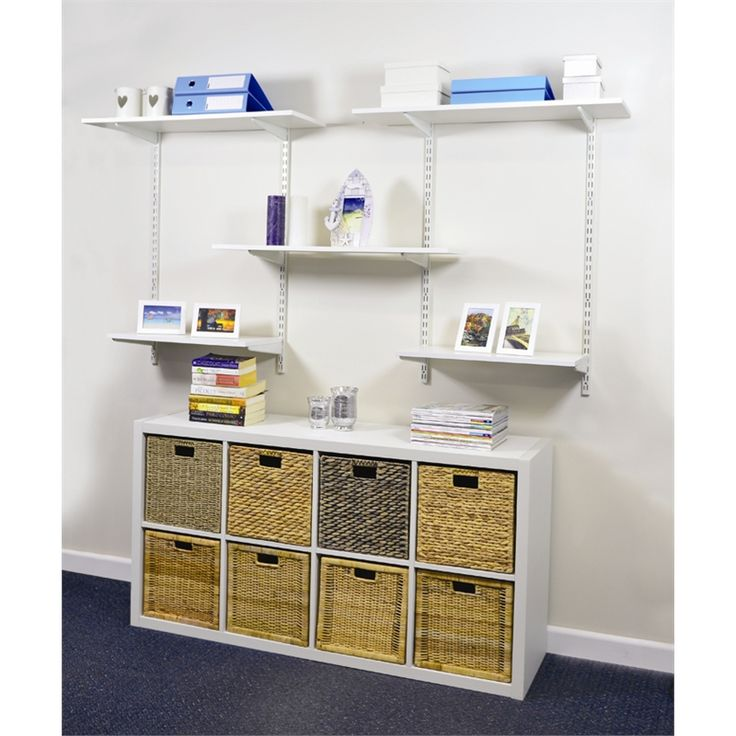 Handy Shelf Melamine Shelving 1200x250x16mm 00905 White