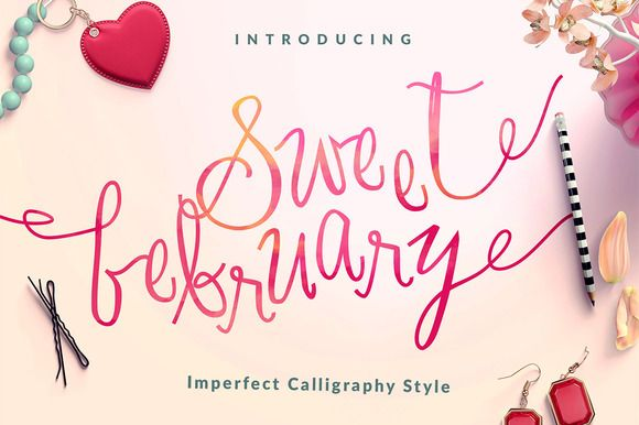 Sweet February Script by Workshop Design on @creativemarket