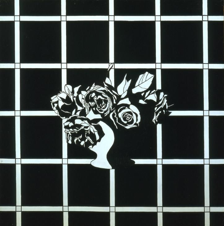 Patrick Caulfield 'Black and White Flower Piece', 1963 © The estate of Patrick Caulfield. All Rights Reserved, DACS 2015