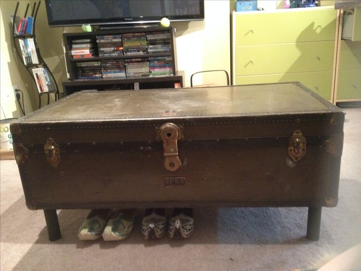 Trunk to coffee table conversion