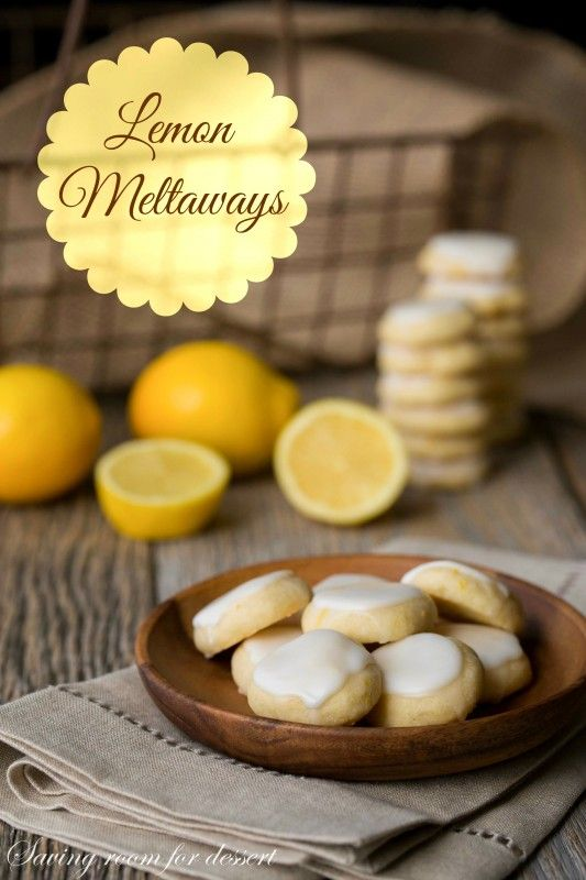 Lemon Meltaways - Light and buttery, these lemon bite-sized cookies are a real treat! Easy to make and the perfect cure for that craving when you need a little something sweet.