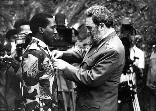 Fidel Castro and Thomas Sankara of BurkinaFaso.