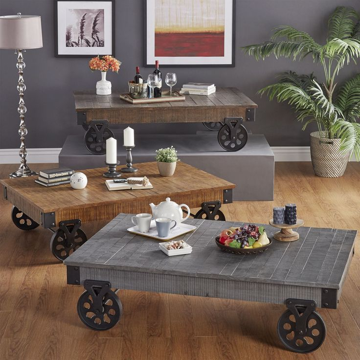 Industrial Metal Coffee Table With Wheels: 1000+ Ideas About Cocktail Table Decor On Pinterest