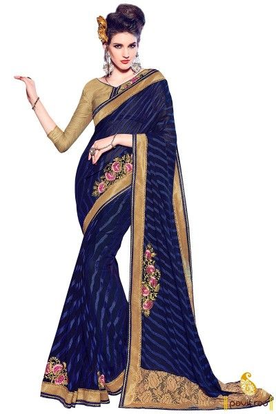 blue-and-beige-online-shopping-for-designer-sarees-PRS-109624