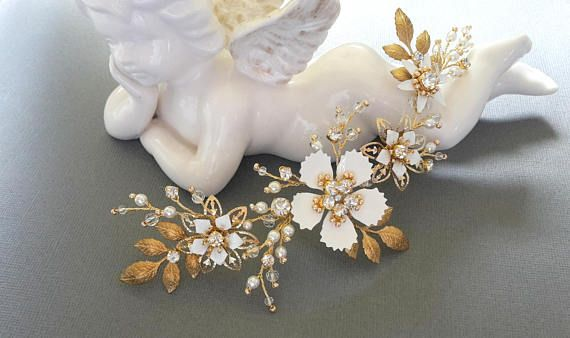 Gold hair vine Pearl hair vine  Bridal Headpiece Wedding Hair