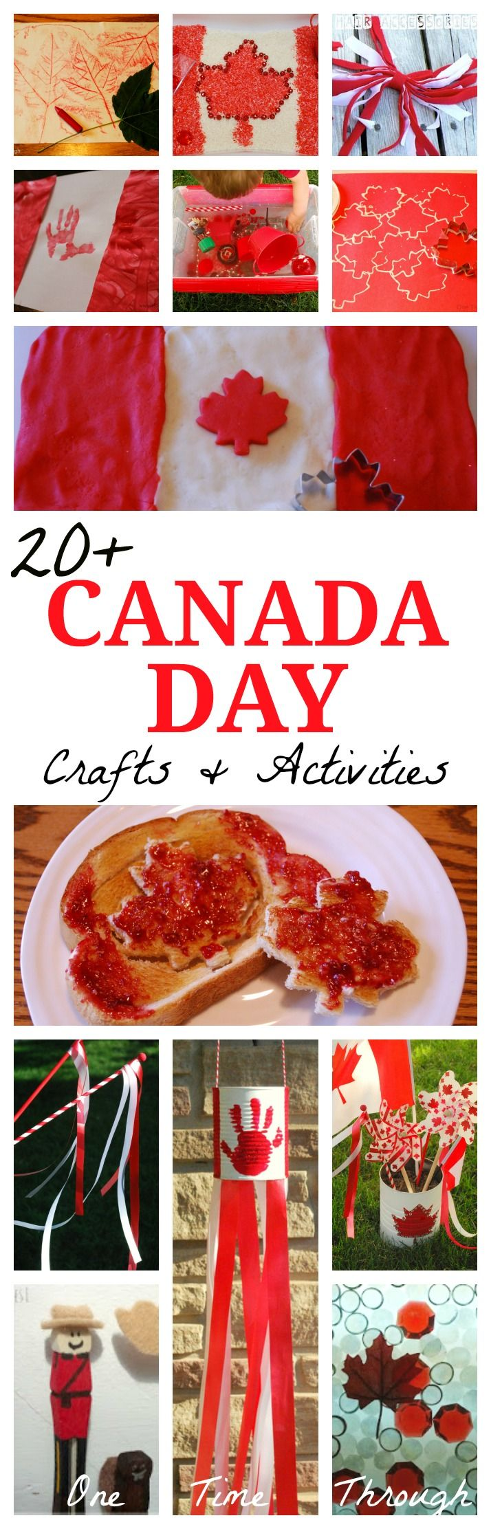 20+ Ideas for making CANADA DAY fun and MEMORABLE for your kids!  {One Time Through}  #kidscrafts #CanadaDay