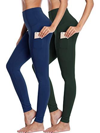 95fd06bd311d9 High Waist Running Workout Leggings for Yoga with Pockets,85% Polyester / 15 %