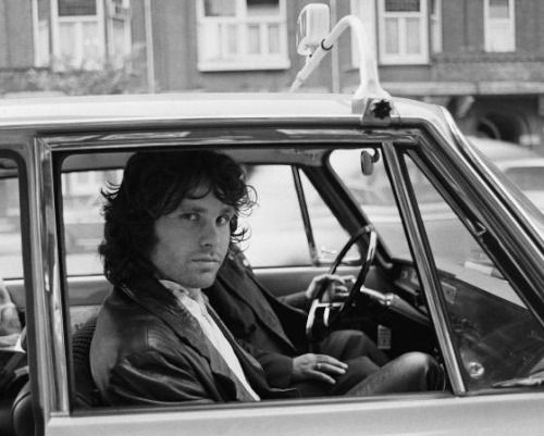 1968. Jim Morrison in a cab in Amsterdam. He never made to the September 15 Doors concert at the Concertgebouw. He collapsed backstage and was rushed to the Wilhelmina Hospital where he stayed overnight. #amsterdam #1968 #jim #morrison