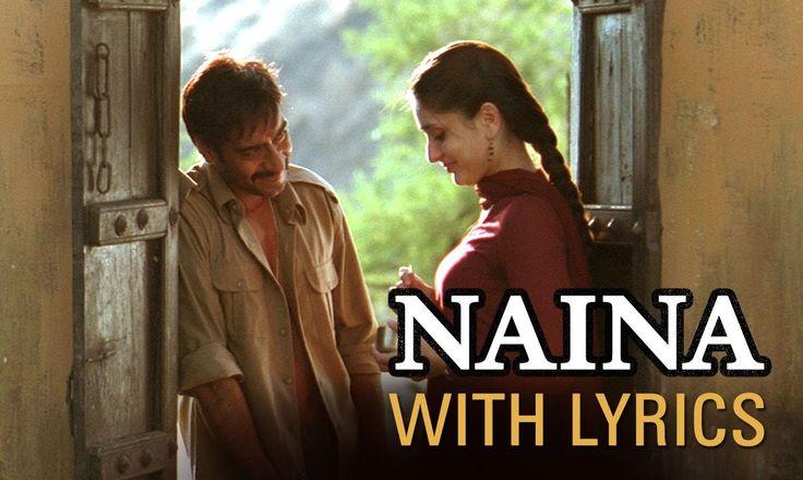 Naina (Song With Lyrics) | Omkara | Ajay Devgn, Saif Ali Khan, Vivek Obe...