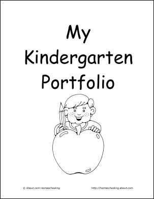 Kindergarten Portfolio from homeschooling.about.com. I like this idea but I might want to try to make it more personalized for Aurora. (Well, let her do it, that is.)