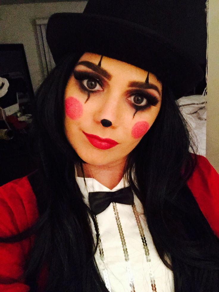 Ringmaster/clown makeup