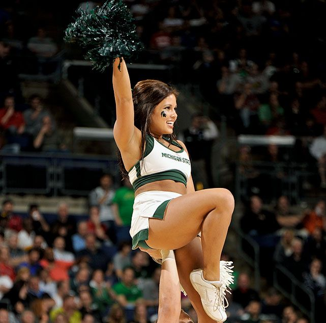 Cheerleaders spartans Michigan state