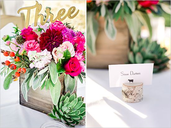 chill out beach wedding rustic place card