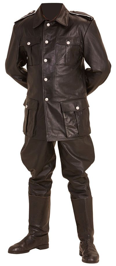 WW2 German style M32 leather breeches and M36 leather tunic - Karl Ruprecht Kroenen