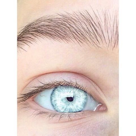 Pale green blue eyes