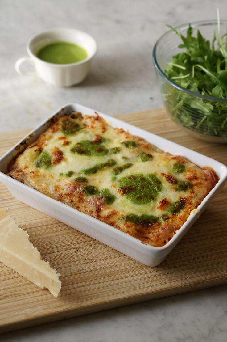 Dans cette recette nous recouvrirons les lasagnes d'un délicieux pistou de roquette (que nous ferons maison) et de mozzarella. Un véritable régal aux couleurs