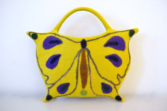 Butterfly bag  yellow by taneno on Etsy
