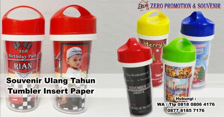 Souvenir Ulang Tahun Tumbler Insert Paper