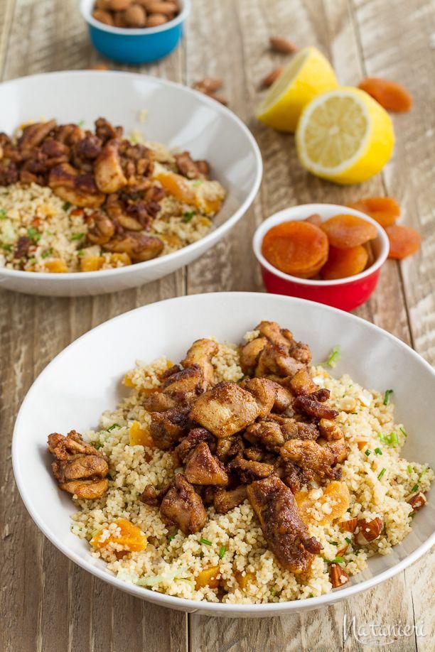 Marocké kura s marhuľovým kuskusom