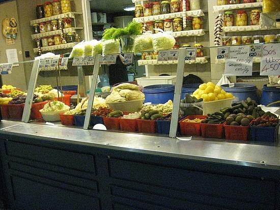 pickle vendor, budapest market hall