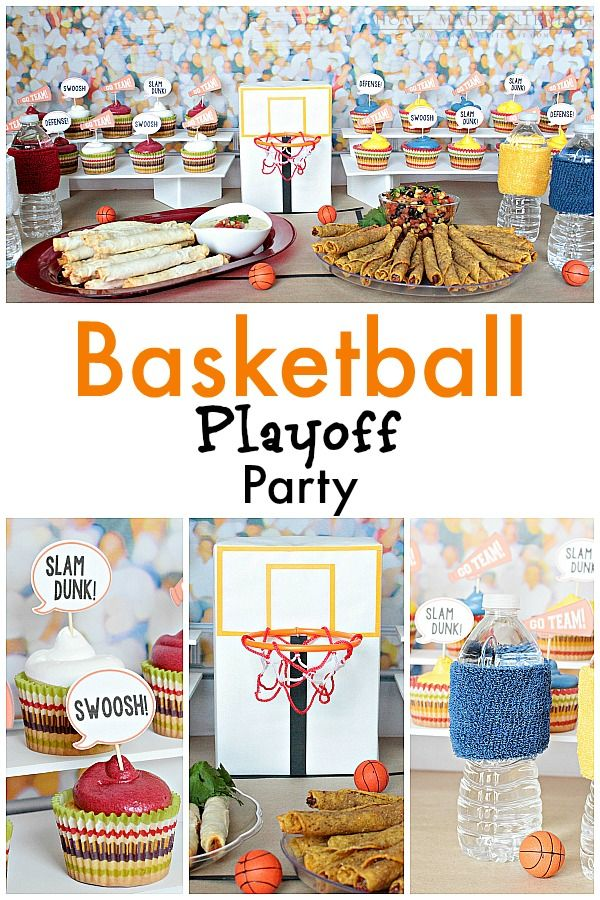 1000 images about party march madness on pinterest for Basketball craft party ideas