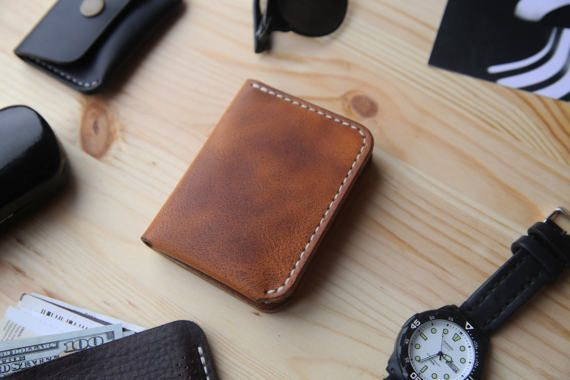 Mens Leather Wallet Mens Bifold Wallet with 4 by Manufacturabrand