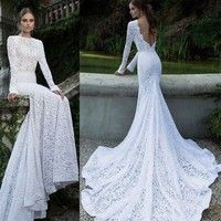 Wish | Lady Lace Sexy Backless Maxi Fishtail Dress Women Asymmetric Prom Evening Dress A_L