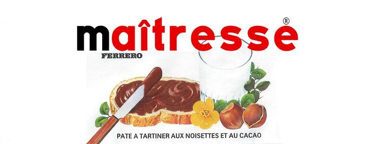 Etiquettes Nutella Maîtresse