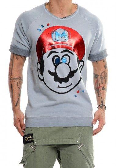 super mario   #vagrancylifestyle #handmade #sweatshirts #man