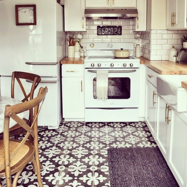 ge appliances retro for cottage kitchen