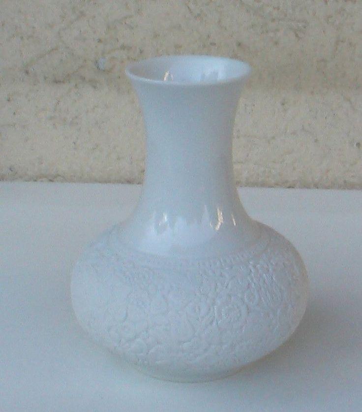 Porzellan Buisquitt Blumenvase von Tirschenreuth in weiß / mit Stempel